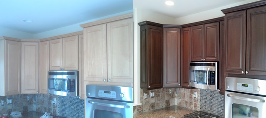 professional cabinet refinishing, cabinet painting, faux finish and