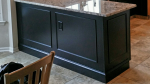 before and after cabinet refinishing