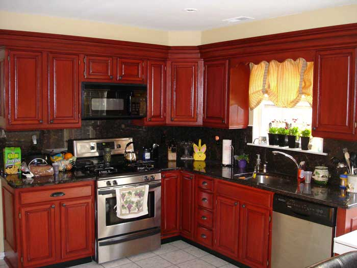 refinishing oak kitchen cabinets restaining oak cabinets before and after cabinets matttroy 25313